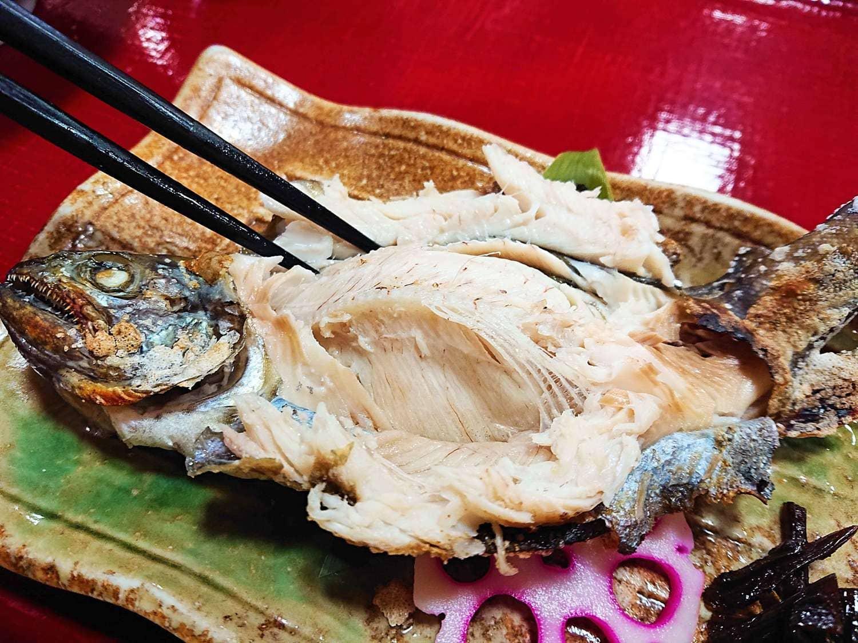 山女魚とお箸