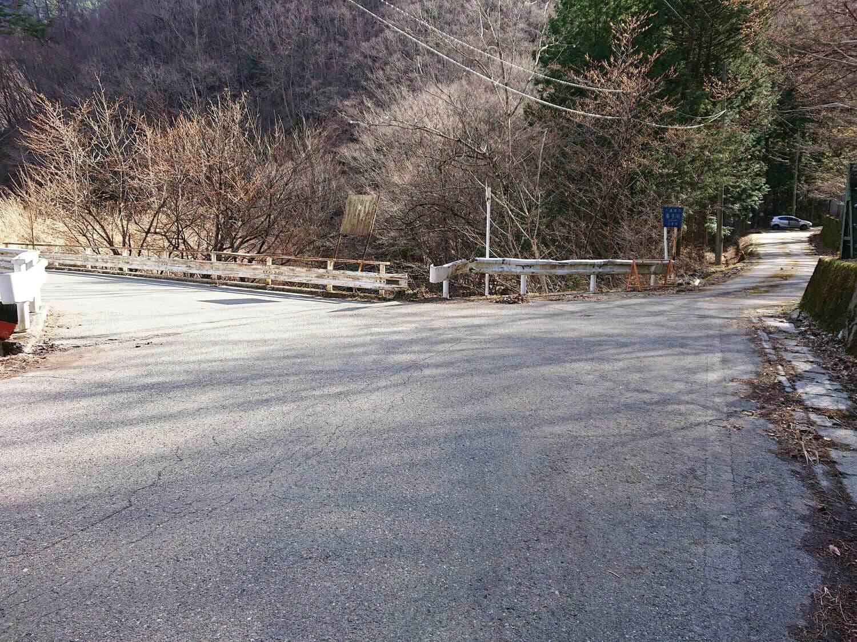 反木川と根子川の分かれ道