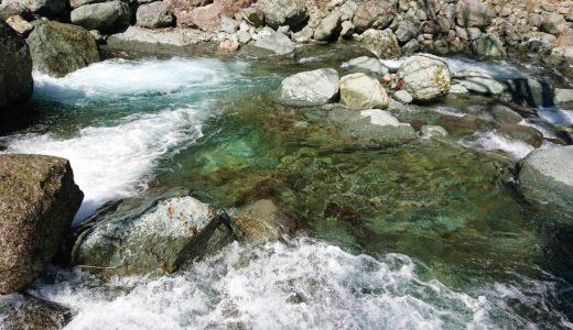 【栃代川】源流域で最高の釣りタイム!激流注意と抜群の透明度を誇る水