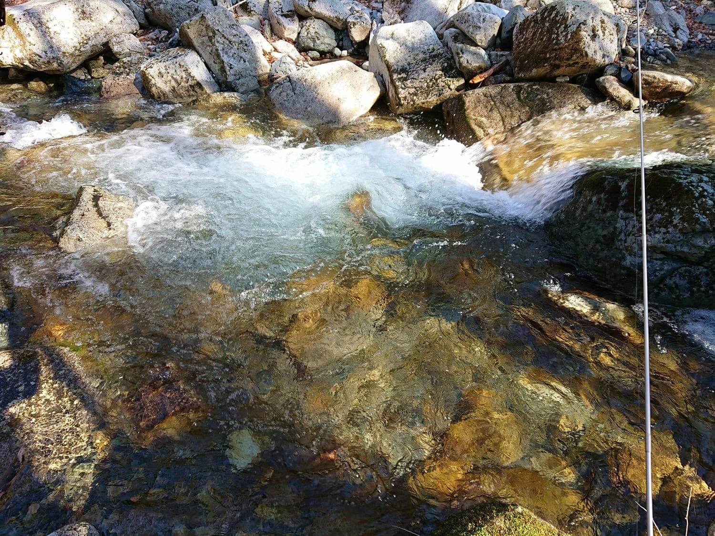 水がキレイな落ち込み