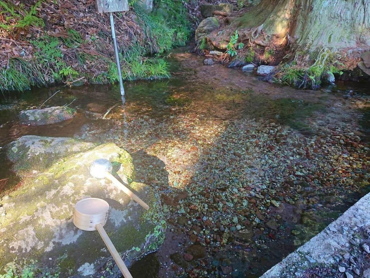 大滝神社のお清め場