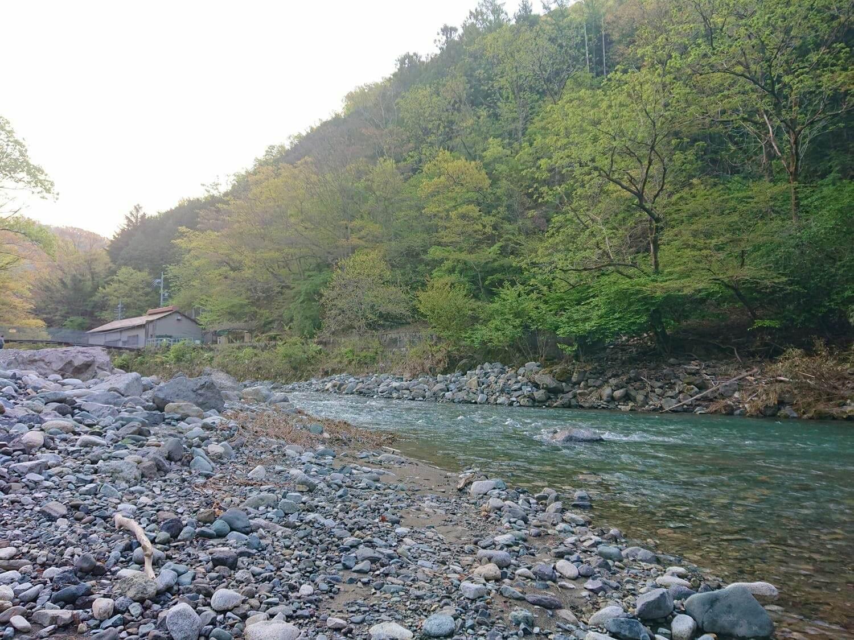 中流域の足元と河川の様子