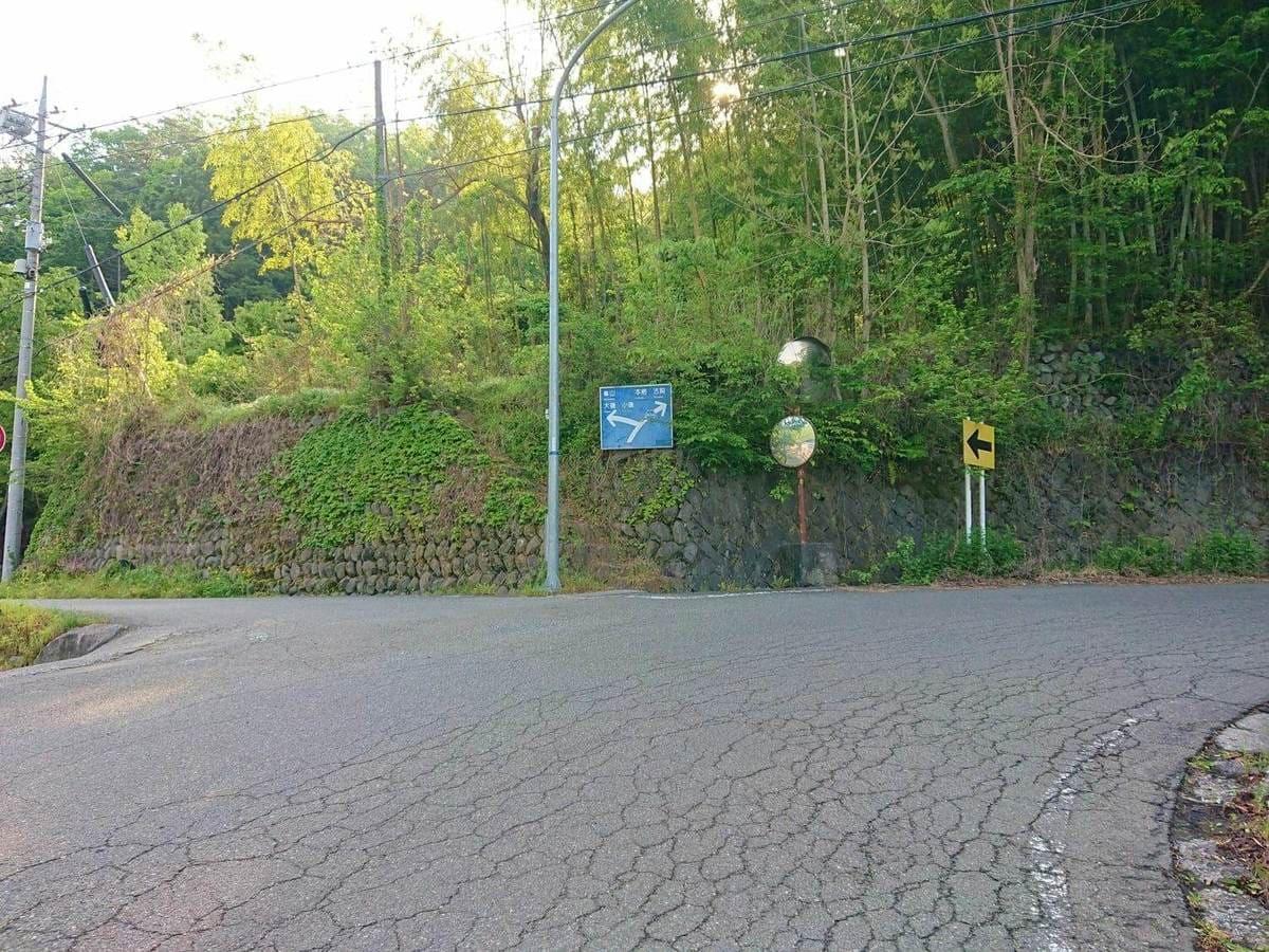 三沢川と樋田川への交差点