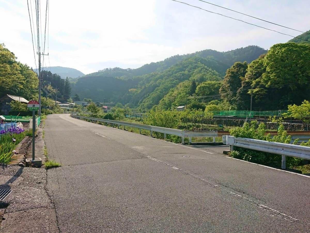 入渓ポイント付近の橋