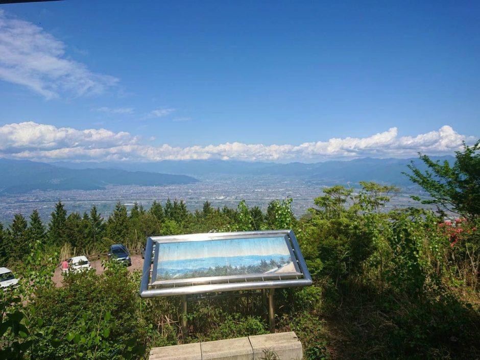 櫛形山見晴らし平展望台からの甲府盆地