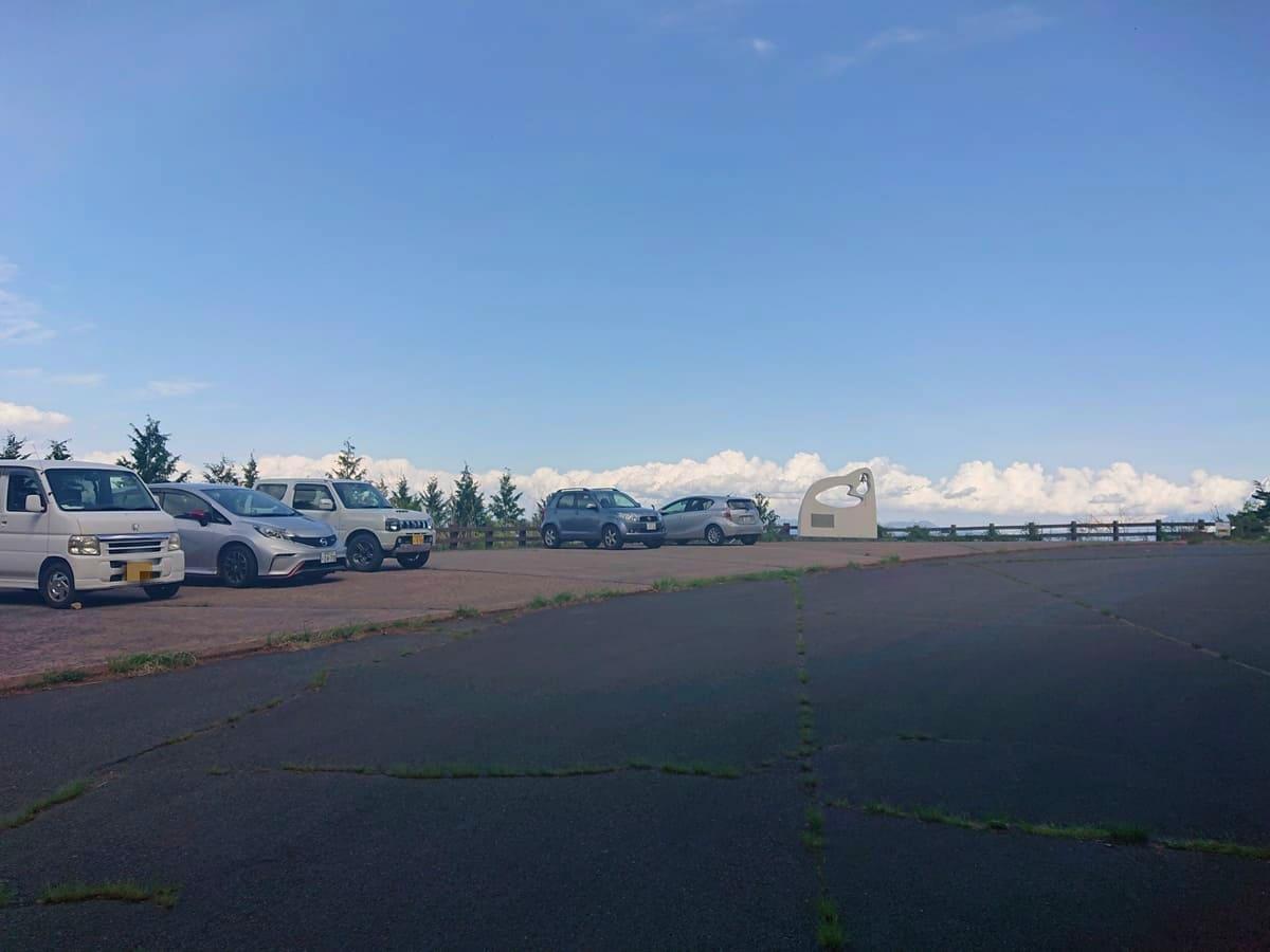 見晴らし平駐車場の様子