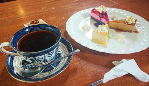 【珈琲茶屋】ステンドグラスが映える老舗喫茶!お得なケーキセットで舌鼓