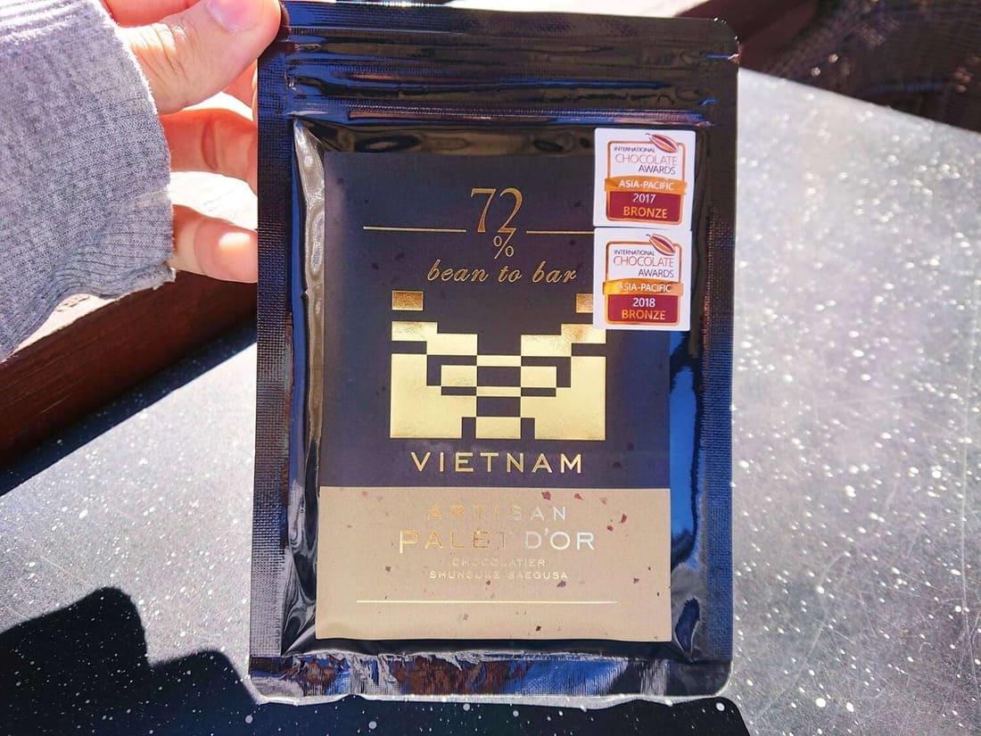 板チョコベトナムビターのパッケージ