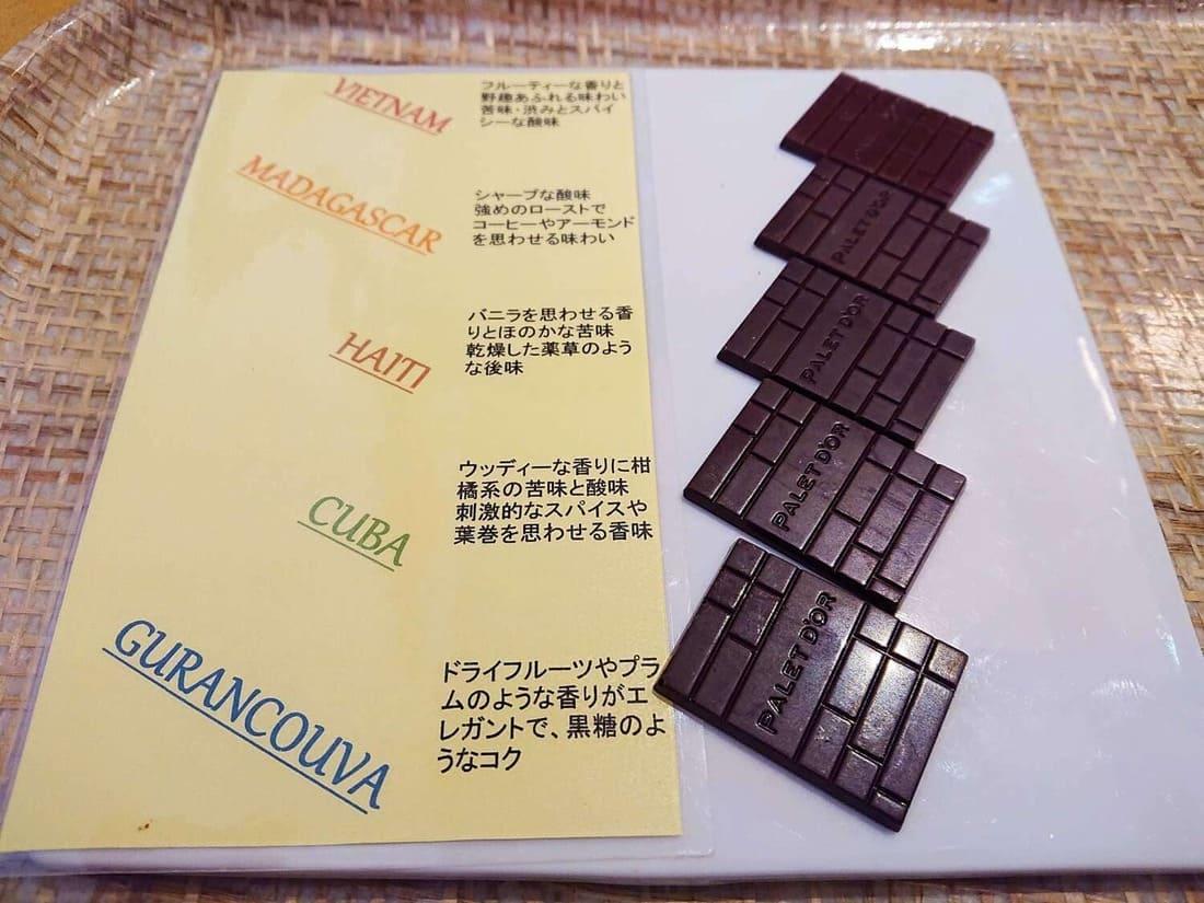 各チョコの説明
