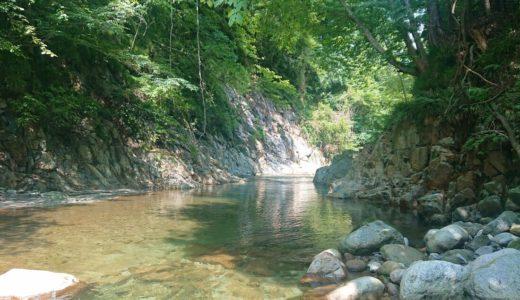 【清水渓谷】片道徒歩7分のハイキング。一之釜の下流にある小渓谷
