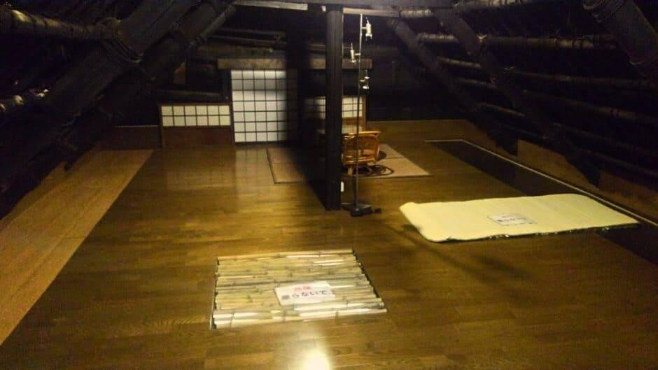 古民家カフェ雅楽の屋根裏