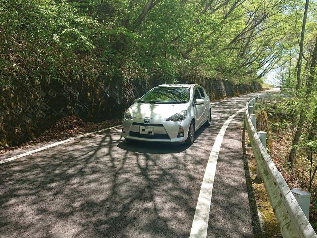 駐車場までの道幅