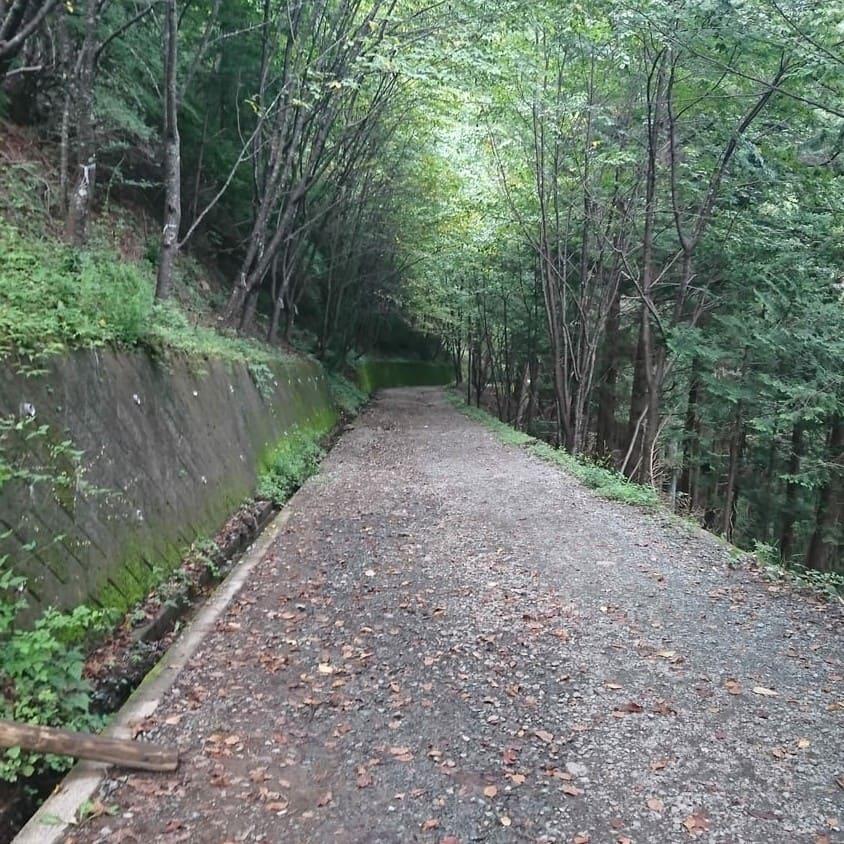 母の白滝までの徒歩道