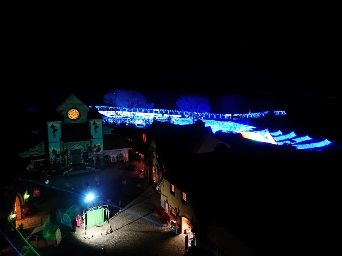 ハイジの村展望塔からのイルミネーション