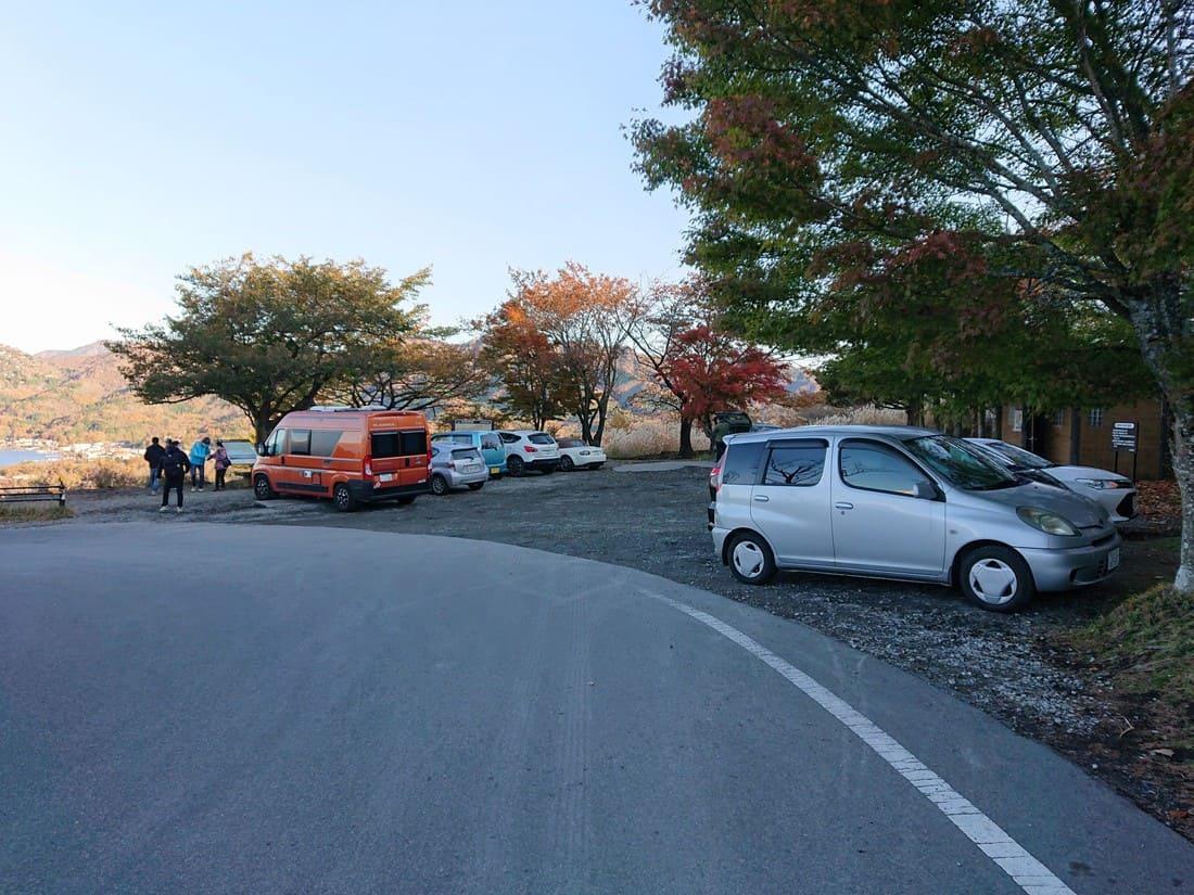 山中湖パノラマ台駐車場の様子