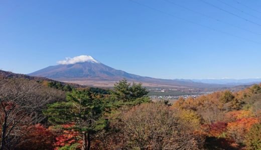 【二十曲峠】忍野八海から20分。車でアクセスできる富士眺望の紅葉スポット