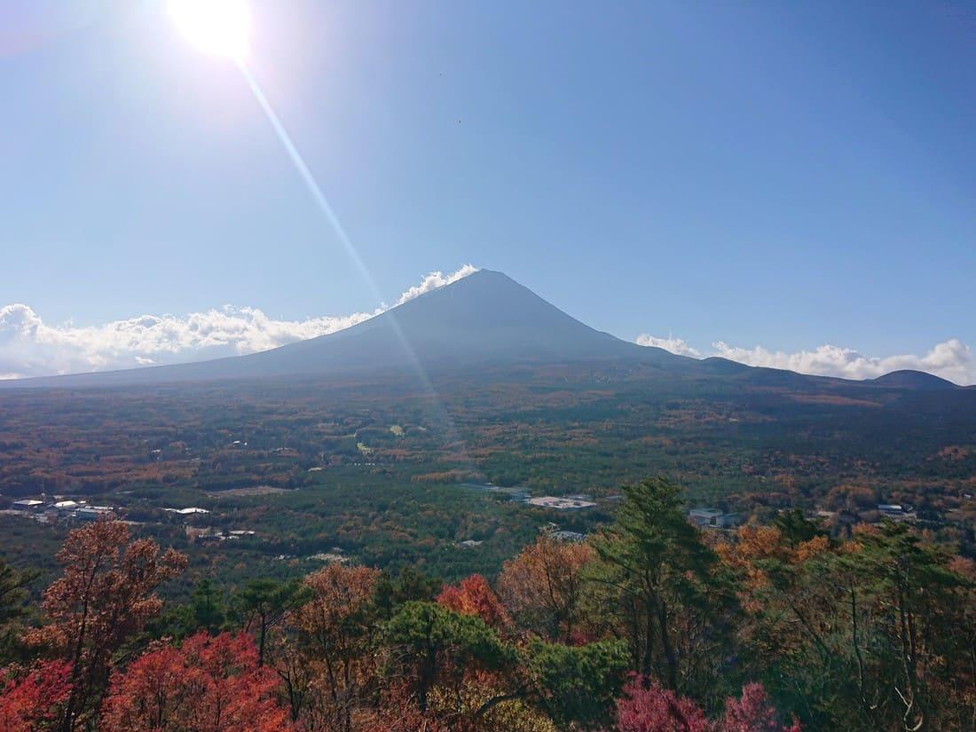 紅葉台から見る富士山