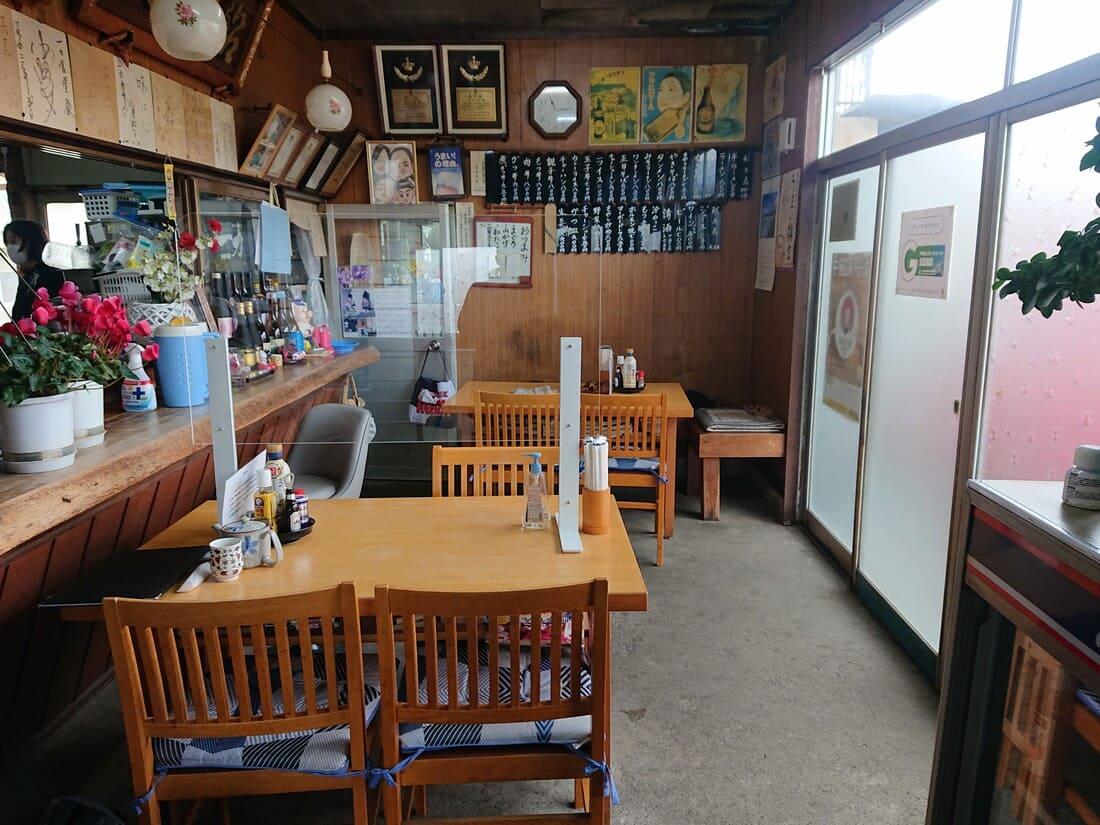一力食堂の内装