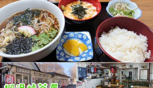 【柳沢峠茶屋】春~秋にかけて大盛況!富士山を望む茶屋でおいしい麦とろランチ♪