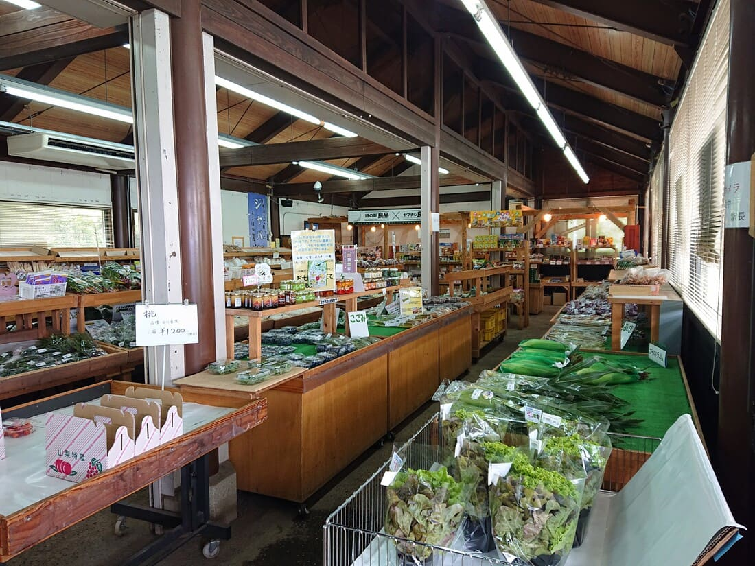 農産物直売所の様子